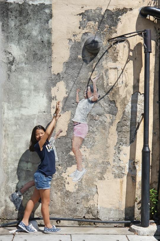 Penang - Children playing basketball