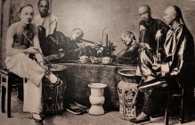 Penang Museum - photo of opium smokers