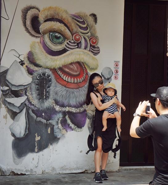Penang Street art 1 - family photo
