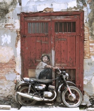 Penang street art 9 - Old Motorcycle