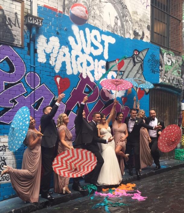wedding and street art